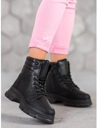 Madingi suvarstomi juodi batai su platforma FASHION  - J43B