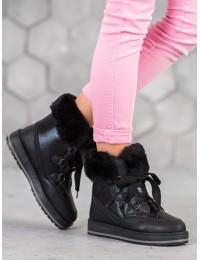 Madingi šilti jaukūs batai su platforma - S435B