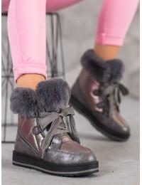 Madingi šilti jaukūs batai su platforma - S435GUN
