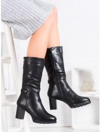 Klasikinio stiliaus juodi odiniai batai - B20189-42B
