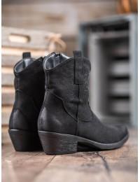 Juodi kaubojiško stiliaus batai - NC970B
