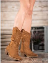 Rudos spalvos kaubojiško stiliaus batai - NC972C