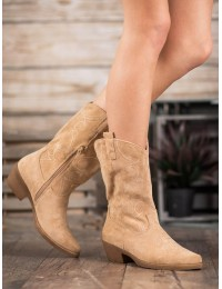 Smėlio spalvos kaubojiško stiliaus batai - NC972BE
