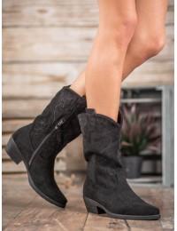 Juodos spalvos kaubojiško stiliaus batai - NC972B