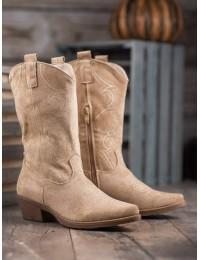 Smėlio spalvos kaubojiško stiliaus batai - NC972KH