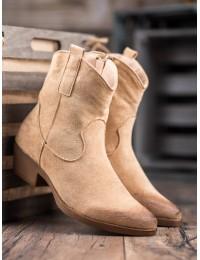 Smėlio spalvos kaubojiško stiliaus batai - NC970BE