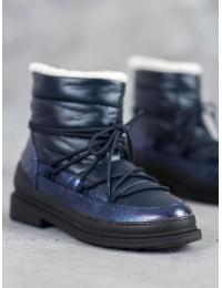 Madingi aukštos kokybės lengvi šilti batai su avikailiu - 9230-13N