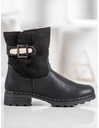 Juodi klasikinio stiliaus batai su avikailiu - DX1830B