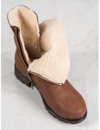 Rudi klasikinio stiliaus batai su avikailiu - DX1830BR