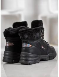 Madingi SNEAKERS modelio batai su kailiu - S312-15B