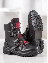 ROCK stiliaus juodi batai neslystančiu padu - H5823B