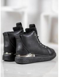 Suvarstomi laisvalaikio stiliaus batai su kailiuku - 8BT30-0748B