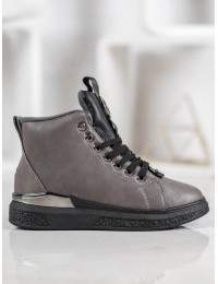 Suvarstomi laisvalaikio stiliaus batai su kailiuku - 8BT30-0748PE