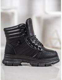 Madingi juodi SNEAKERS batai su pašiltinimu - 119-25B