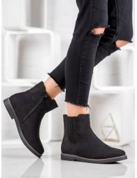 Juodi zomšiniai stilingi batai - 8B839B