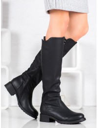 Klasikiniai juodos spalvos batai rudeniui/ žiemai - 1133-PG-B