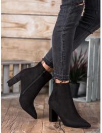 Elegantiški madingi juodi zomšiniai batai - 0-316B