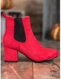 Raudoni ryškūs stilingi aulinukai - 2208-132R