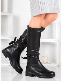 Juodos spalvos batai su avikailiu - S1854B