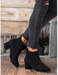 Elegantiški juodi zomšiniai batai - MB188-301B