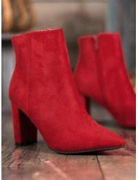 Elegantiški raudoni zomšiniai aulinukai - 0-316R