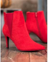 Elegantiški raudoni zomšiniai aulinukai - TX-1852R