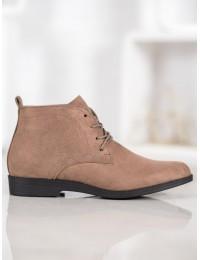 Klasikiniai zomšiniai suvarstomi batai su pašiltinimu - GD-OD-48D.BE