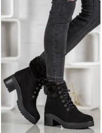 Šilti juodi klasikinio stiliaus batai - BO-217B
