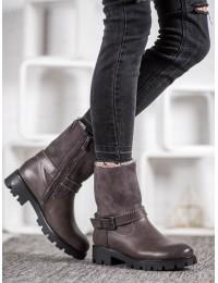 Pilki šilti batai paaukštintu aulu - C168G