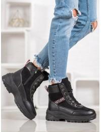 Madingi SNEAKERS modelio batai su kailiu - BK922B