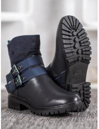 Mėlynos spalvos madingi batai - M386BL