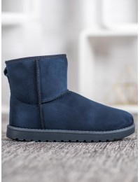 Mėlyni zomšiniai madingi batai  - C-08BL