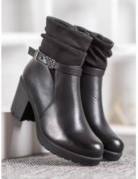 Juodi elegantiški klasikiniai batai - T2109B