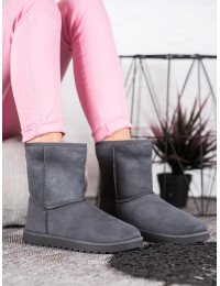 Pilki zomšiniai komfortiški šilti batai - C-01G