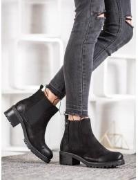 Aukštos kokybės juodi madingi batai su pašiltinimu - GD-ZN90B