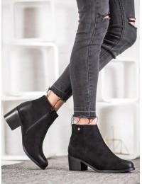 Aukštos kokybės juodi madingi batai su pašiltinimu - GD-DS-04B