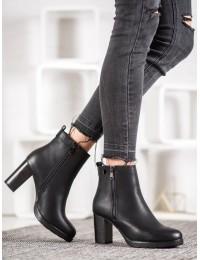 Elegantiški juodi batai su pašiltinimu - A8025B