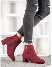 Elegantiški zomšiniai bordo spalvos batai - 7BT35-0048BUR