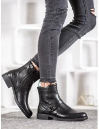 Juodi madingi batai su pašiltinimu - A8001/A-B