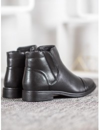 Juodi klasikiniai patogūs batai su pašiltinimu - A8057B