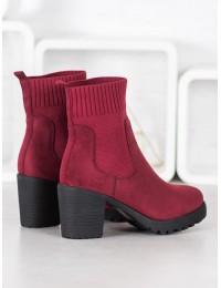 Zomšiniai stilingi bordo spalvos batai - M370WI