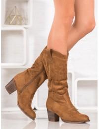 Aukštos kokybės kaubojiški siuvinėti batai - 260-10C