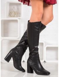 Elegantiški juodos spalvos odiniai ilgaauliai - 5319B