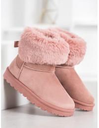 Rožinės spalvos šilti batai - W19-35P
