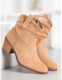 Zomšiniai kaubojiško stiliaus batai - 9166BE