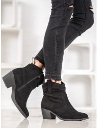 Zomšiniai kaubojiško stiliaus batai - 9166B