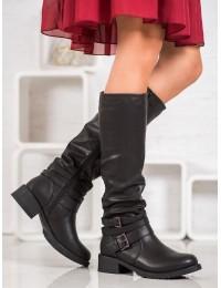 Juodi klasikiniai batai su pašiltinimu - 7501B