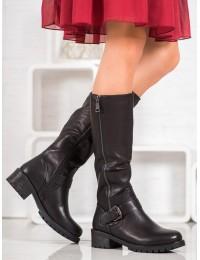 Juodi klasikiniai batai su pašiltinimu - F126B
