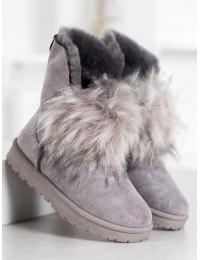 Lengvi patogūs šilti zomšiniai batai su kailiuku - BK900G