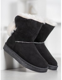 Lengvi patogūs šilti zomšiniai batai su kailiuku - BK901B